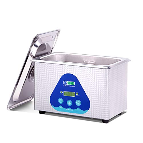 Ultraschallreiniger Ultraschallreinigungsgerät, DK SONIC 900ml Schmuck Reinigung Ultraschall für Uhren Sonnenbrille, Schmuck, Münzen, Rasierer, Zahnprothesen, (900ml, Silver)