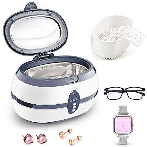 PREUP Ultraschallreiniger Ultraschallreinigungsgerät Ultraschallgerät 600ml für Reinigung von Brillen Schmuck Uhren Zahnersatz (600ml)